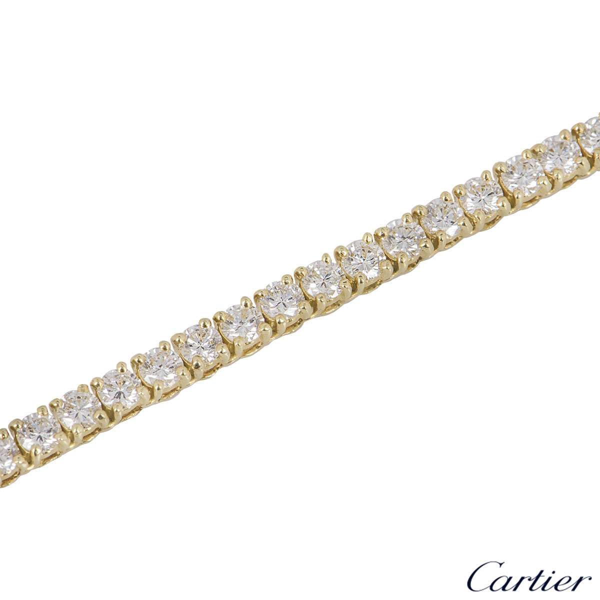 Cartier Yellow Gold Diamond Line Necklace 10.30ct